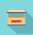 bakery icon flat style vector image