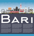 bari italy city skyline with gray buildings blue vector image vector image
