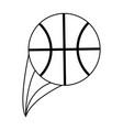 basketball ball icon image vector image vector image
