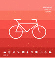 bicycle line icon vector image vector image