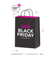 black friday sale poster design flat vector image