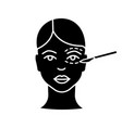 blepharoplasty glyph icon vector image vector image