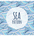 blue waves repeating background doodle sea vector image vector image