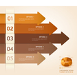 Brown color arrow number options banner vector image