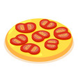 chopped tomato icon isometric 3d style vector image vector image