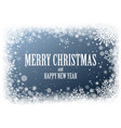 christmas background with frame snowflakes vector image vector image
