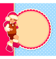 christmas card with cartoon Santa vector image