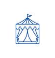 circus line icon concept circus flat vector image