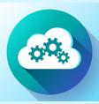 cloud logo cloud services cloud computing gear vector image vector image
