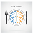 Creative left brain and right brain Idea concept vector image vector image
