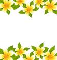 decoration frame made in frangipani plumeria vector image vector image