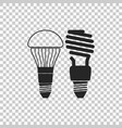 economical led lightbulb fluorescent light bulb vector image
