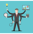 Effective competent leader multitasking vector image vector image