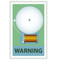 Electric bell on stamp vector image vector image