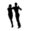 Elegance tango latino dancers couple silhouette