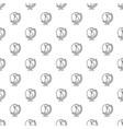 globe pattern seamless vector image