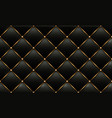 gold and black leather texture background vector image vector image