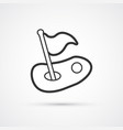 golf trendy black line icon icon eps10 vector image