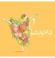 Graceful ballerina vector image