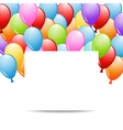 greeting card with balloons vector image vector image