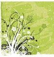 grunge floral graphics vector image vector image