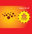 happy diwali holiday festive offer poster design vector image vector image
