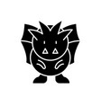 horror black icon sign on isolated vector image vector image