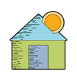 house to save cash money economy vector image