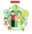 Icon Flat Style Concept Family Health vector image