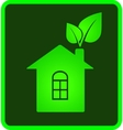 icon of eco house vector image vector image