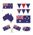 icons set of australia day with colorful vector image