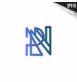 initial rn logo monogram design template simple vector image vector image