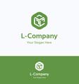 L company logo vector image vector image