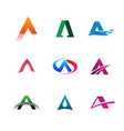 letter a logo collection set logo design concept vector image