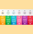 lift dating and seo statistics icons set vector image vector image