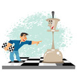 man and a chess figure vector image vector image