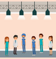 medical people cartoon vector image vector image