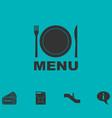menu icon flat vector image vector image