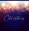 merry christmas and happy new 2022 year shining vector image