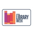 national library week holiday concept template vector image vector image