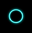 neon frame blue circle background isolated vector image