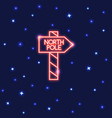 neon north pole waypost icon in thin line style vector image vector image
