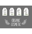 Organic cosmetics tags vector image