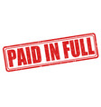 paid in full stamp vector image