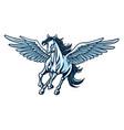 pegasus flying horse majestic cartoon logo vector image vector image