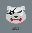 Polar Bear head Angry bear logo Hockey emblem vector image vector image