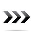 popular abstract zig zag black chevron stack vector image