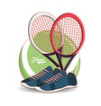 racket and shoes to play tennis sport vector image vector image