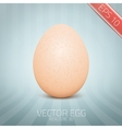 realistic yellow egg on abstract vector image