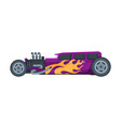retro style hot rod race car old sports vector image